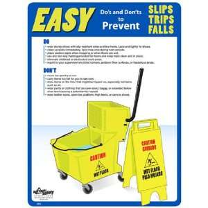 National Safety Compliance Slips, Trips & Falls Poster   18 X 24