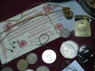 JUNK DRAWER MIXED LOT SILVER & GOLD JEWELRY FOREIGN COINS