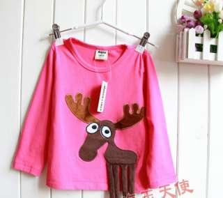 Shirts W/ 3D Animals Girl/Boy Version Bright Color Fun 4 Sibling
