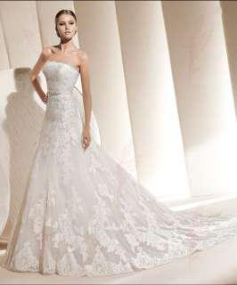 Ivory Lace Bridal Wedding Dresses Gowns Size 6 8 10 12 14 16++