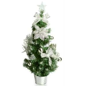 2 ft. Decorated Christmas Tree   Silver Star