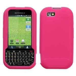 Hot Pink Rubber Silicone SKIN Case Cover for Motorola Titanium i1x