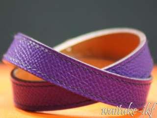 Brand New Authentic 2012 Hermes Bracelet Kelly Double Tour CROCUS