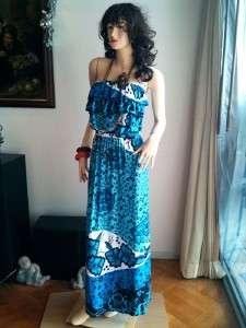 boho ruffle flower print maxi long dress S M L last 1