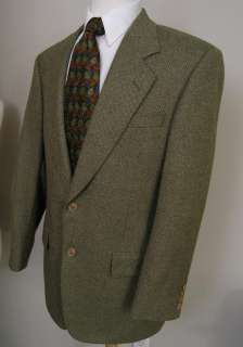 Samuelsohn Blazer Olive Brown 41R Wool Full Canvas NWOT