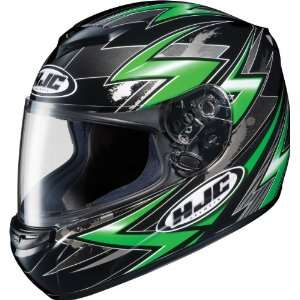 HJC CS R2 Thunder Full Face Motorcycle Helmet Green