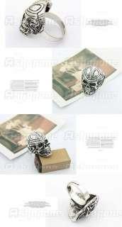 Cool PUNK Retro Vintage Skull Ghost Head Adjustable ring