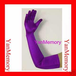 23 Stretch Satin Opera Long Gloves Womens Fancy Dress