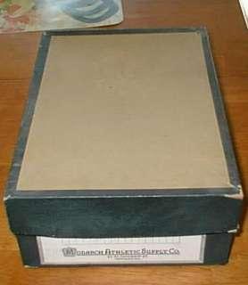 VINTAGE MONARCH ATHLETIC SUPPLY CO. CAPS DISPLAY BOX |