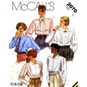 Sewing Pattern Blouse & Tie Size 10 Bust 32 1/2: Arts, Crafts & Sewing