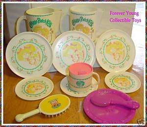 CABBAGE PATCH KIDS doll size dishes VINTAGE CPK