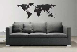 World Map Atlas Country Vinyl Wall Art Sticker Decal103