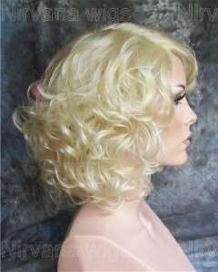 Lady Gaga Deluxe Quality Skintop Blonde and Pink Curley Wig