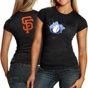 Nike San Francisco Giants Ladies Black Local T shirt