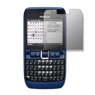 for Nokia E63 E 63 Black Silicone Case Cover+Screen Protector+Wall