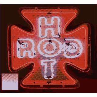 Iron Cross Hot Rod Diamond Plate with Diamond Plate Housing Neon Sign