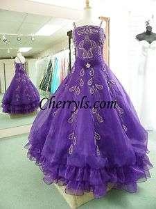 LITTLE ROSIE 665 Purple 14 GIRLS NATIONAL PAGEANT DRESS WINNING GOWN