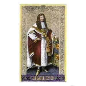 Charles Ii, King of Great Britain Premium Poster Print