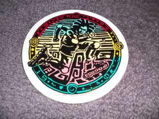 Roller Blade Skate Rasta Medium Roundy Vintage sticker