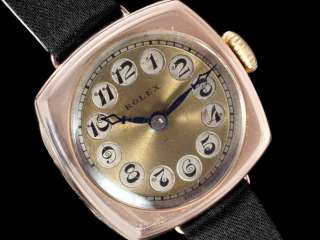 1920s ROLEX Ladies Vintage Art Deco Watch   9K Rose Gold