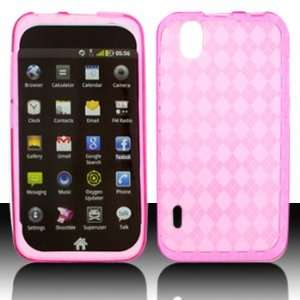 LG LS855 Marquee Crystal Skin Hot Pink Case Cover