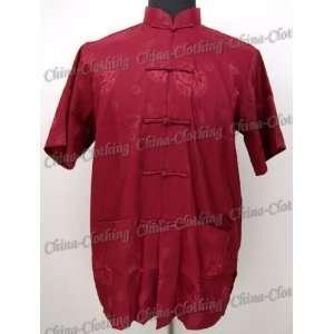 Ancient Chinese Royal Kung Fu Shirt Burgundy Available