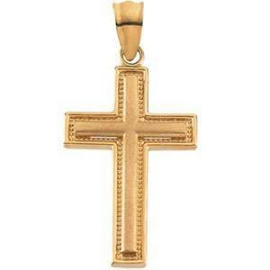 Genuine IceCarats Designer Jewelry Gift 14K Yellow Gold Cross Pendant