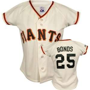 Barry Bonds Majestic Replica San Francisco Giants Womens