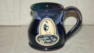 Deneen Handthrown Pottery Coffee Cup Mug Another Broken Egg Cafe