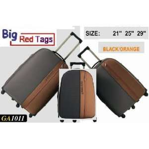 BLACK Rolling Travel Luggage Set 3 pc duffel bag