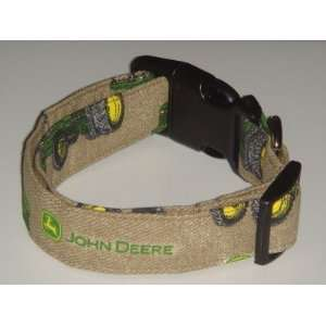 John Deere Brown Tan Tractor Small 3/4 Dog Collar