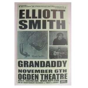 Elliott Smith Handbill Concert Poster Grandaddy At The Ogden Theatre