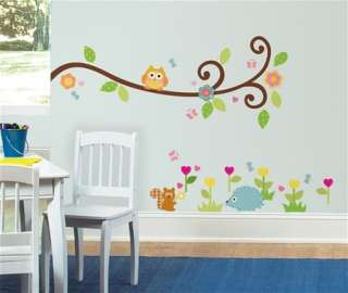 New SCROLL TREE BRANCH WALL STICKERS Branches & Leaves Decals Baby