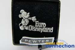 Disney 1992 Euro Disneyland Opening Pewter Standing Mickey Mouse Pin
