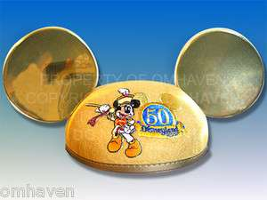 Disney Disneyland 50 Anniversary Mickey Mouse Ears Cap