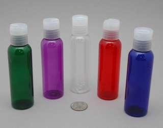 PET Color 2oz Plastic Dispensing TSA Bottles Travel