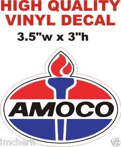 Vintage Style AMOCO Gas Gasoline Oil Company Pump Decal The Best or