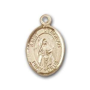 14kt Gold Baby Child or Lapel Badge Medal with St. Deborah