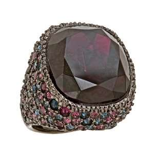 Kenneth Jay Lane   Amethyst Crystal Cocktail Ring Jewelry