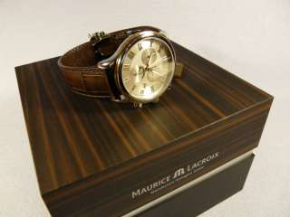 MAGNIFICENT MENS WATCH MAURICE LACROIX CLASSIC GOLD STEEL CHRONOGRAPHE