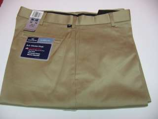 DOCKERS KHAKI PANTS NEW ANTI WRINKLE FLAT CLASSIC FIT
