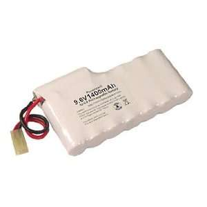 Airsoft Gun Battery 9.6 V 1400 mAh NiCd Battery for Airsoft