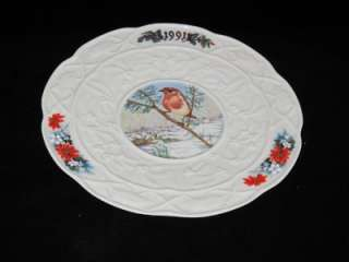 Donegal Irish Parian China 1991 Christmas Plate, MIB LE