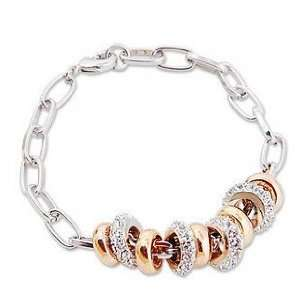 Perfect Gift   High Quality Elegant White Gold Plated Bracelet