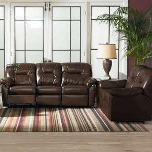 Edison Double Reclining Sofa and Loveseat Set