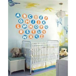 Kids Alphabet in Circles A z Vinyl Wall Decal