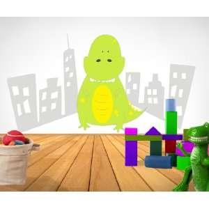 Wall Decal Vinyl Sticker Baby Godzilla Dinosaur 4ft Tall