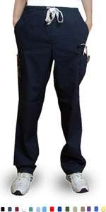 New Medical Scrub 6 Pocket Cargo Pants with Drawstring Mens or Womens