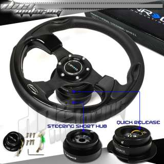 NRG/JDM COMBO STEERING WHEEL+QUICK RELEASE+SHORT HUB 1A