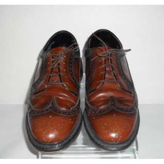 Mens Nice Brown Wing Tip British Walkers Shoes Size 9 B